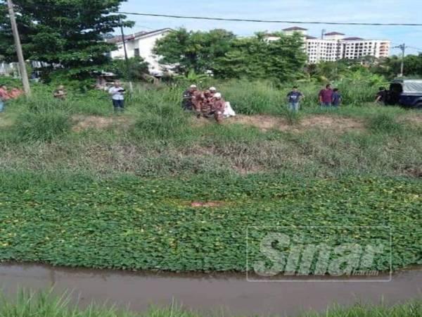 Mayat Chong Meng yang ditemui berhampiran sungai di Sungai Putat.