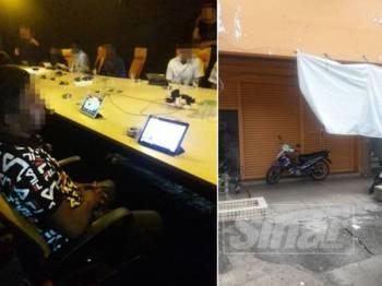 Sebuah premis di Jalan Khoo Teik Ee, Off Jalan Imbi, Kuala Lumpur yang beroperasi dengan menawarkan perjudian online berjaya dikesan polis, semalam.