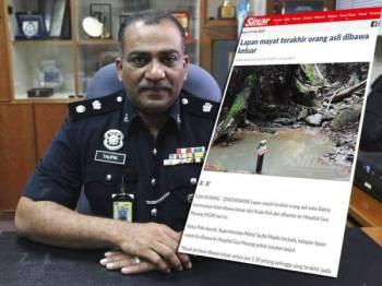 Mohd Taufik Maidin. Gambar kecil: Laporan Sinar Harian semalam.