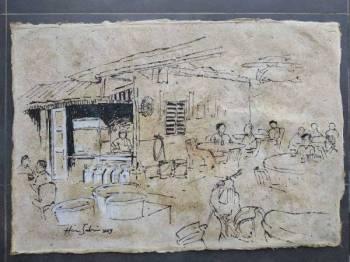 Lukisan di atas kertas nanas.