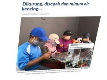 Pendedahan oleh empat bekas pekerja Pusat Jagaan Warga Emas dan Terapi Fitrah. (Gambar kecil: Berita tular mengenai 'Pusat Jagaan Warga Emas Seremban Neraka' di laman sosial.)