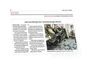 Laporan Sinar Harian 13 Jun lalu.