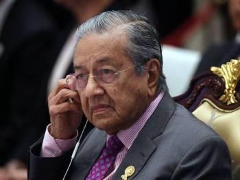 Perdana Menteri Tun Dr Mahathir Mohammad - Foto BERNAMA