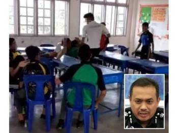 Rakaman video tular yang menunjukkan seorang pelajar dipercayai tingkatan empat sedang membuli juniornya di sebuah sekolah menengah di Setiu. Gambar kecil: Aidi Ismail