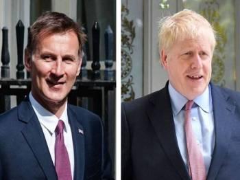 Jeremy Hunt (kiri) dan Boris Johnson berentap bagi merebut jawatan Perdana Menteri Britain