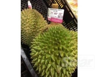 Antara jenama durian berkualiti dijual dengan harga hampir RM400.