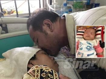 Fairol Haziri tidak menyangka anak bongsunya ini mampu bertahan daripada pelbagai rawatan tumor termasuk dua pembedahan sebelum dilahirkan 41 hari lalu.