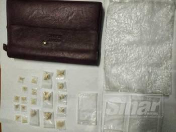 Antara dadah yang dirampas dalam Ops Tapis di daerah ini awal pagi tadi.