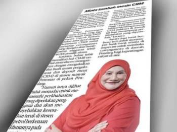 Keratan akhbar Sinar Harian semalam.
