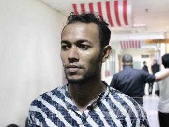 Tertuduh, Hairul Amin Harul Rushid -FOTO ZAHID IZZANI