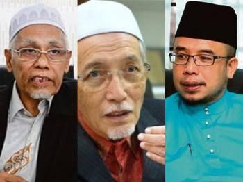 Dari kiri: Wan Salim, Mohamad Shukri, Mohd Asri Zainul.