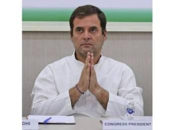 Rahul Gandhi umum letak jawatan Presiden Parti Kongres menerusi laman Twitter.