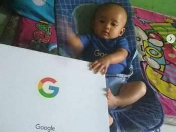 Bayi comel bernama Google mendapat perhatian masyarakat antarabangsa. Foto Instagram  @lambe_turah