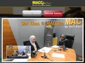 Latheefa ketika menjadi tetamu khas di Temubual Khas@MACCfm hari ini.