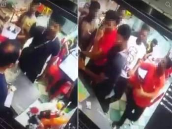 Rakaman kamera litar tertutup (CCTV) menunjukkan sekumpulan lelaki yang dipercayai mencederakan serta mengugut mangsa dalam kejadian di sebuah restoran di Semenyih, Kajang, semalam.
