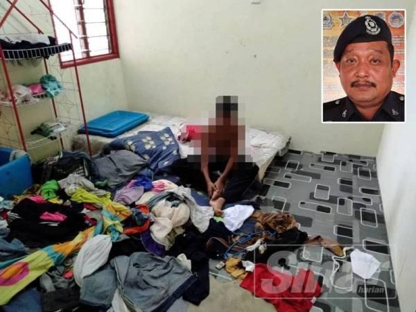 Ibu kepada tiga kanak-kanak di Padang Setengge, Hulu Terengganu yang dipercayai terabai telah tampil menyerah diri kepada pihak polis. Gambar kecil: Mohd Adli