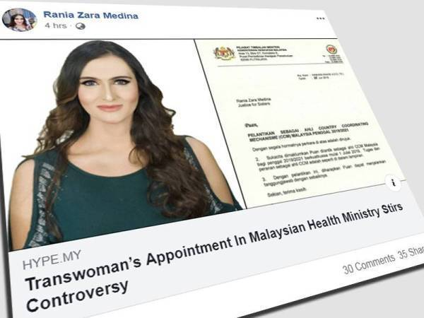 Lantikan Rania Zara Medina sebagai ahli CCM 2019-2021 oleh Kementerian Kesihatan Malaysia cetus kontroversi.
