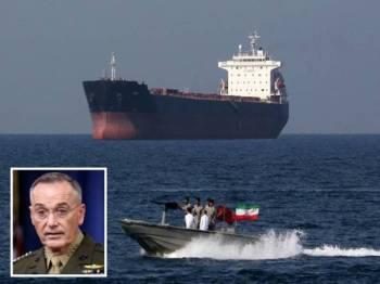 Penubuhan pakatan ketenteraan multinasional itu bertujuan untuk 'memastikan kebebasan navigasi' di rantau Asia Barat. (Gambar kecil: Joseph Dunford)