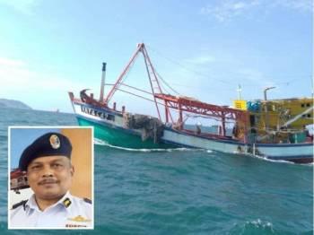 Bot nelayan asing ditahan selepas dikesan menceroboh perairan negara untuk mencuri hasil laut. (Gambar kecil: V Pannir Selvan)