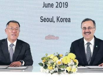 WAKIL Hyundai Motor dan Saudi Aramco menandatangani MoU baru-baru ini.