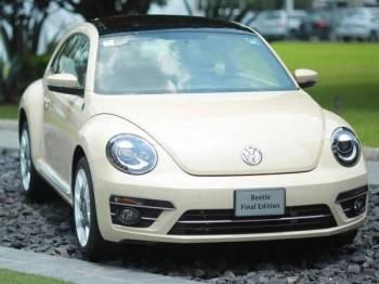 Edisi terakhir Beetle dipamerkan selepas model itu berada di pasaran lebih 80 tahun. - Foto Getty
