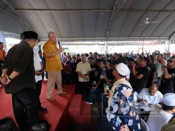 Najib ketika berucap pada program Santai Petang bersama Bossku di Kuala Nerang, hari ini.