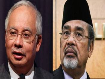 Najib (kiri) dan Tajuddin