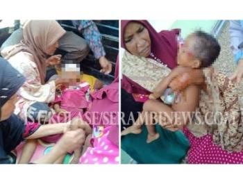 Kakak dan adik lelakinya parah dipukul bapa mereka dengan batang cangkul dalam kejadian di Aceh Timur baru-baru ini.