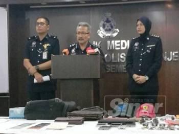 Wan Rukman (tengah) pada sidang media di IPK hari ini.