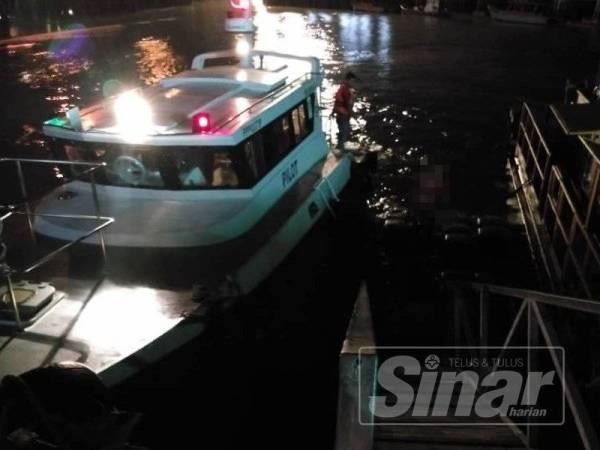 Mayat mangsa ditemui oleh peronda Penang Port