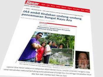 IWK menafikan loji kumbahan di bawah seliaannya menjadi punca pencemaran di Sungai Kayu Ara, Petaling Jaya hingga menyebabkan ribuan ikan mati.