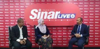 Noor Azmi (kanan) pada Sinar Live Minggu Keusahawanan dan PKS 2019 di Kumpulan Media Karangkraf hari ini.