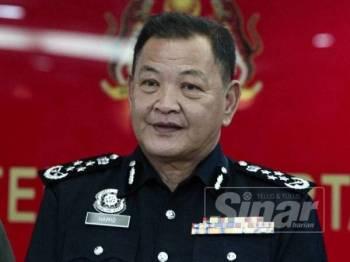 Ketua Polis Negara, Datuk Seri Abdul Hamid Bador ketika lawatan rasmi ke Maskas Angkatan Tentera Malaysia di Wisma Pertahanan di Kuala Lumpur hari ini. - Foto ZAHID IZZANI