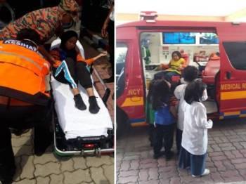 Tular gambar antara pelajar yang mengalami muntah dan sesak nafas di beberapa sekolah di Pasir Gudang. - Foto pembaca