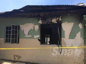 Sebahagian bangunan Madrasah Tahfiz Al-Quran Ibnu Talib yang terletak di Kampung Pulai di sini terbakar.