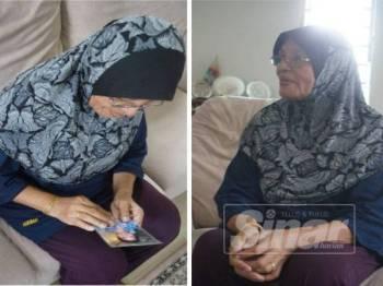 Habibah menunjukkan gambar anak perempuannya yang terkorban dalam tragedi udara pada 17 Julai 2014 itu.