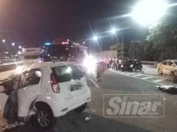 Kenderaan dipandu terbabas menyebabkan seorang pemandu wanita maut dalam kemalangan di NKVE pagi tadi.