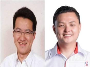 Liew Chin Tong (kiri) dan Tee Boon Tsong