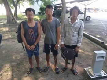 Ketiga-tiga warga Myanmar yang ditahan kini direman untuk siasatan lanjut.
