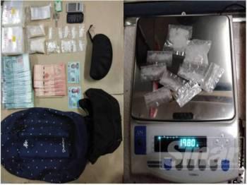 Dadah dipercayai jenis heroin yang ditemui ketika pemeriksaan dalam bilik yang dihuni kedua-dua suspek tersebut.
