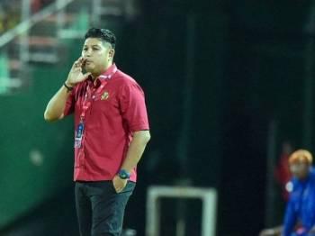 Aidil Sharin mahu anak buahnya segera melupakan kekalahan 1-5 kepada Felda United pada aksi terakhir Liga Super 2019. - Foto AHMAD ZAKI OSMAN