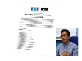 Kenyataan media AMK Terengganu yang menyatakan sokongan terbuka terhadap Anwar. (Gambar kecil:  Azan Ismail)