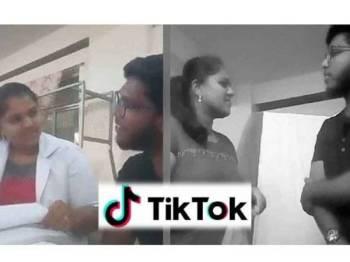 Dua orang pelatih fisioterapi di India disingkir daripada menjalani latihan fisioterapi gara-gara video Tik Tok