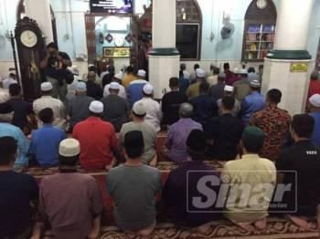 Solat hajat di Masjid Kariah Pantai memohon supaya operasi mencari dan menyelamat Nora Anne dipermudahkan.