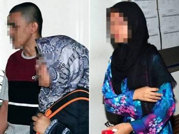 Amaluddin Gulam Mohamad 26 (kiri), berjalan keluar dari mahkamah selepas dilepas dan dibebaskan daripada tuduhan mengedar dadah jenis ganja di Mahkamah Tinggi Shah Alam, hari ini. Turut dilepas dan dibebaskan dua lagi rakannya Kamarul Izwan Rasidi, 28, dan Nursyuhadah Md Zain, 28 (gambar kanan). - Foto BERNAMA