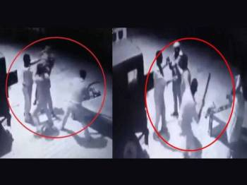 Dua konstabel polis di Uttar Pradesh bergaduh dipercayai akibat rasuah.