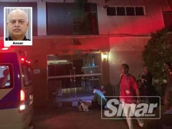 Dua wanita ditemui terbaring di hadapan lobi hotel ketika elak diberkas polis dalam serbuan Op Noda semalam.