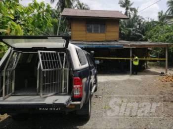Wanita warga emas ditemui mati selepas ditetak kumpulan lelaki bertopeng di rumahnya di Kampung Tebuk Pulai di sini Isnin lalu.