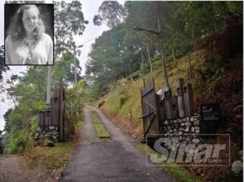 Pintu masuk ke The Dusun Pantai Hill lengang. Gammbar kecil: Nora Anne