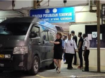 Mayat akan dibawa ke Lapangan Terbang Antarabangsa Kuala Lumpur (KLIA).